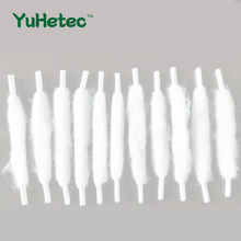 цены на 100PCS YUHETEC 100mm Shoelace like assembly Oil guide cotton Swabs for E-Cigarette RDA RTA RBA Atomizer Coil Wire Cotton  в интернет-магазинах