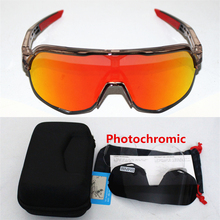 Photochromic S2 3 Lens polarized Outdoor Sports Bicycle Sunglasses