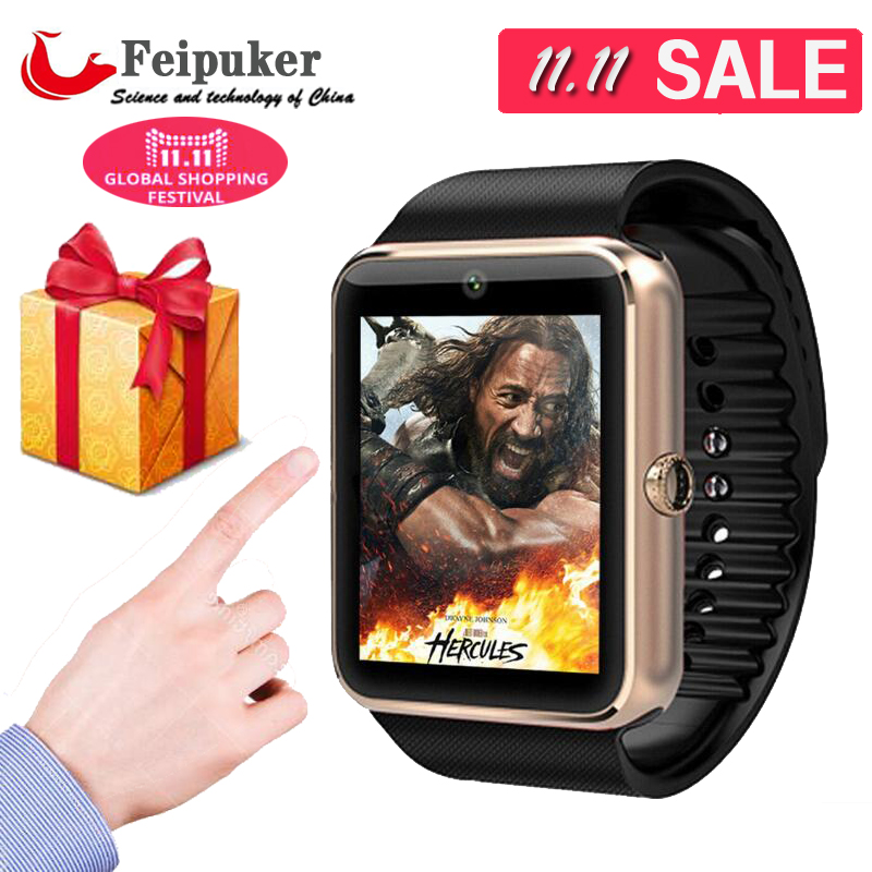 2016 New Bluetooth Smart watch GT08 for Android samsung iphone WristWear Support Sync smart clock font
