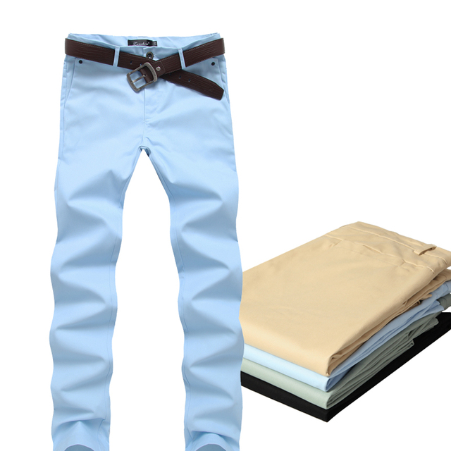 Pantalones Harem ocasional de Los Hombres de la Marca de Algodón Solid Straight Slim fit Pantalones de Color Caqui 2016 Fahion Verano Hombres Basculador Pantalones Pantalones K23
