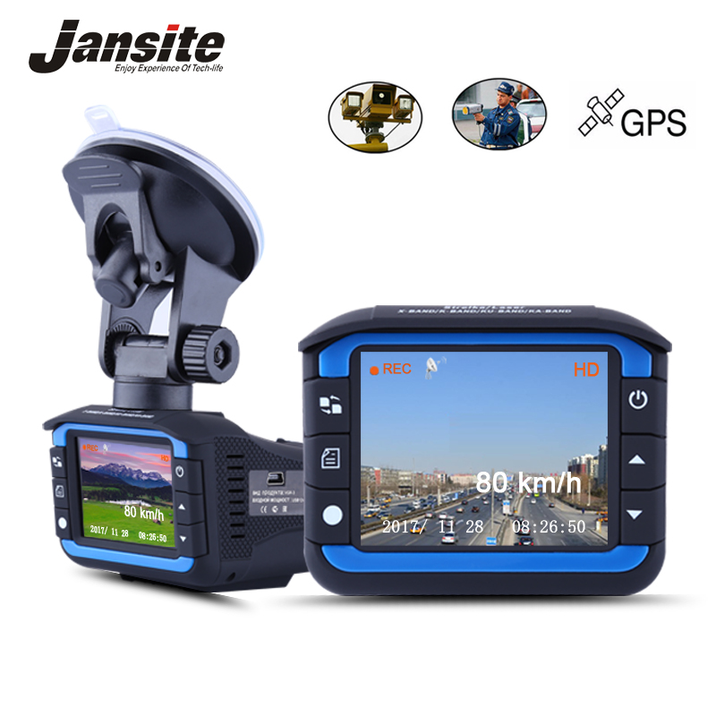 Jansite Car DVR 3 in 1 Radar Detector Car Camera with GPS video recorder dash cam Russian Voice Laser Speed cam Anti Radar lacoste