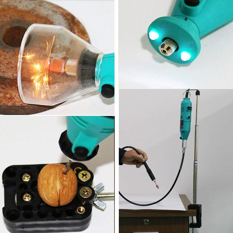 Купить с кэшбэком 180W Mini DIY Drill Engraver Dremel Mini Drill Machine Engraving Pen Grinder Mini Electric DIY Drill Rotary Tool Polishing Grind