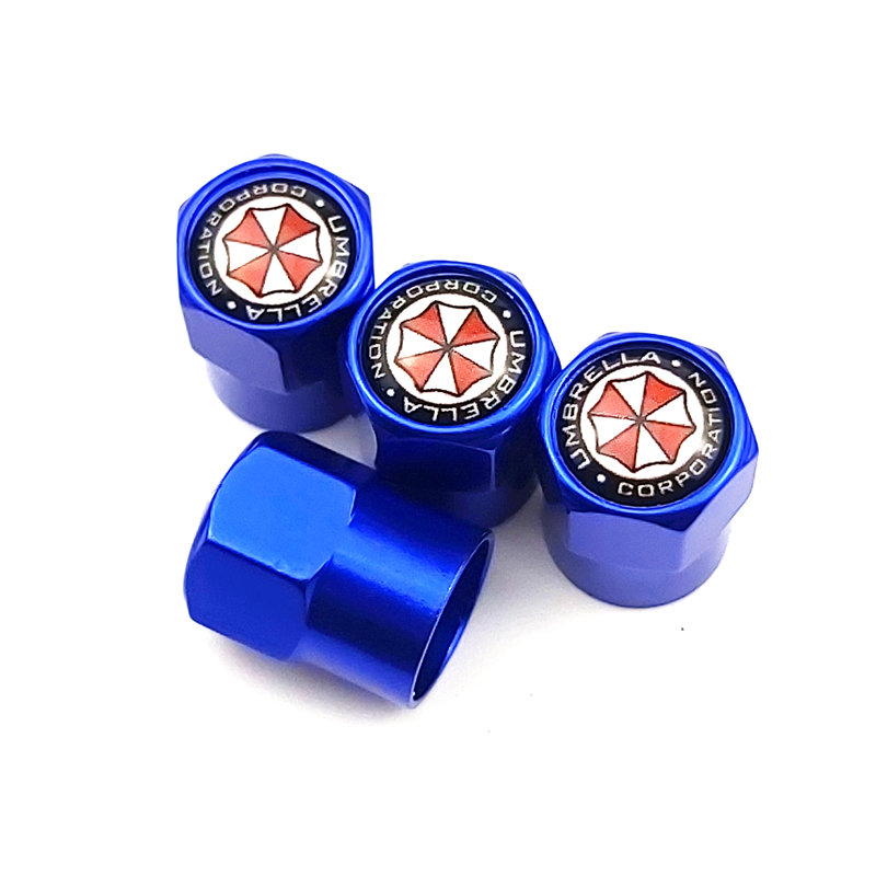 BLUE COLOR 4pcs/set New Car Tire Valve Caps Fit For OPEL BMW AUDI SKODA Golf TOYOYA ALL CARS Car Styling