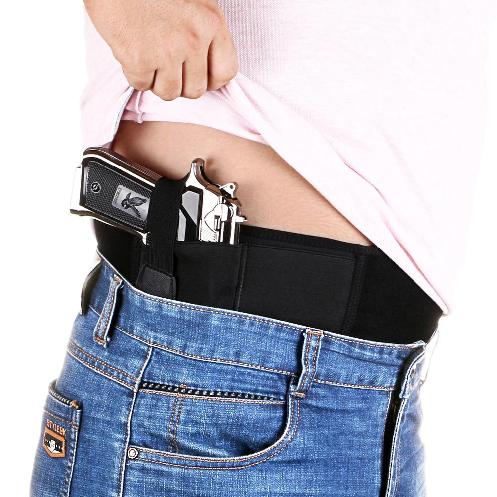 Belly Band Holster para llevar encubierto se ajusta pistola Glock P238 Ruger LCP y pistolas de tamaño Similar para hombres y mujeres