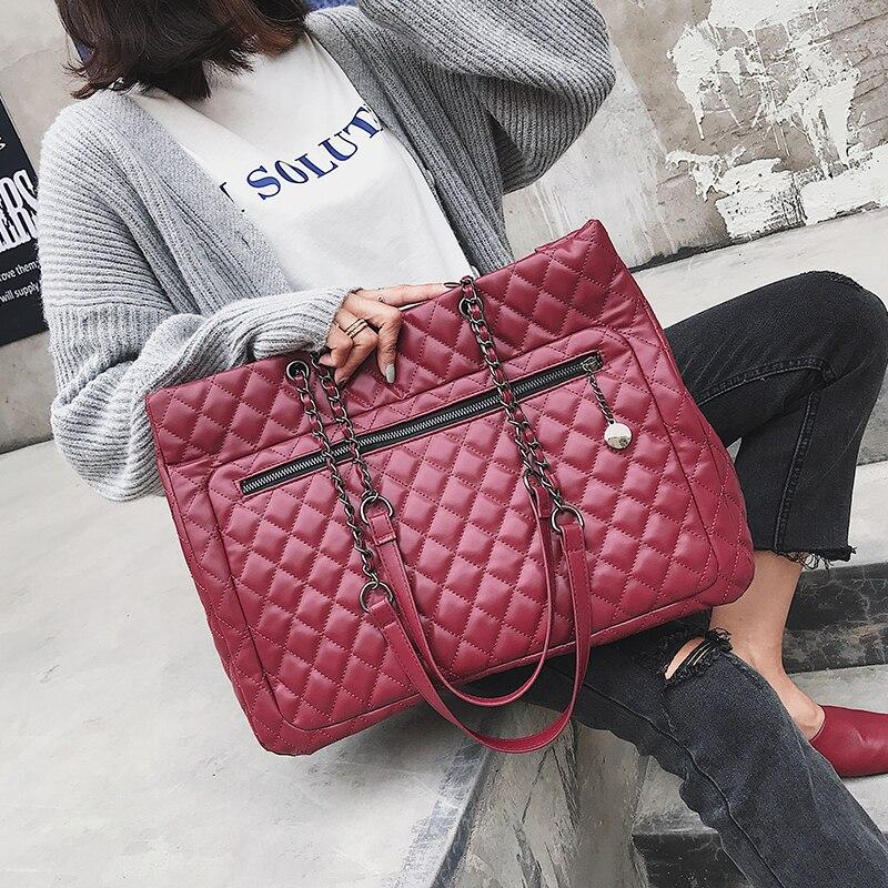 European style Fashion Retro Women Large Handbags Shoulder Bag 2018 New Quality PU Leather Women's Designer Handbag Big Tote bag