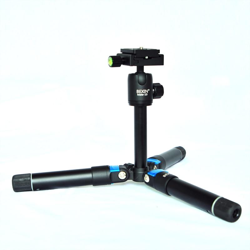 Aluminum alloy Camera Mini Tripod Stand with Rocker Arm for Canon Nikon Sony DSLR Camera Camcorder Load 3kg + Portable Bag aputure vs 5 hd sdi hdmi 1920 1200 video monitor 7 inch magic arm for sony canon nikon dslr camera