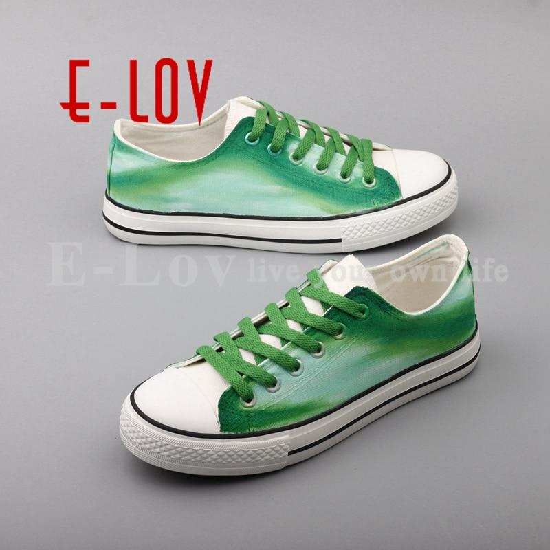 A Tamaño Zapatos Top 00000 2017 Verde Sapatilhas Mano De Graffiti D301c Pintado Más Feminina Planos Sueño Moda Lov Ocasionales Lienzo PZYPqwzC
