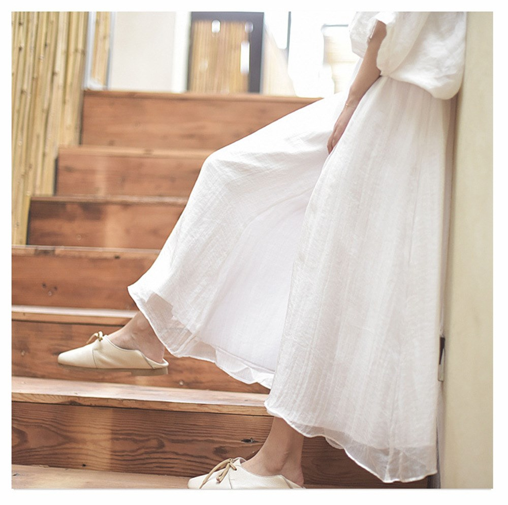 2019 Women Summer Loose Style   Pants   Women   Wide     Leg     Pants   Casual White Trousers Cotton Linen Oversized Women Boho   Pants