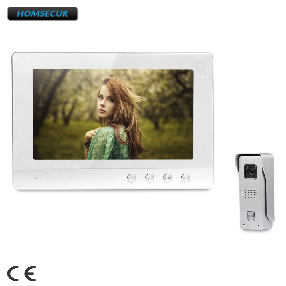 HOMSECUR 10.1 Video Security Door Phone with Intra-monitor Audio Intercom for Apartment : XC002+XM101-SHOMSECUR 10.1 Video Security Door Phone with Intra-monitor Audio Intercom for Apartment : XC002+XM101-S