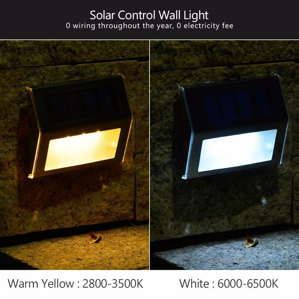 Aliexpress 10 Pieces Solar Step Lights Led Ed Stair Outdoor Lighting For Steps Paths Patio Aterproof Deck