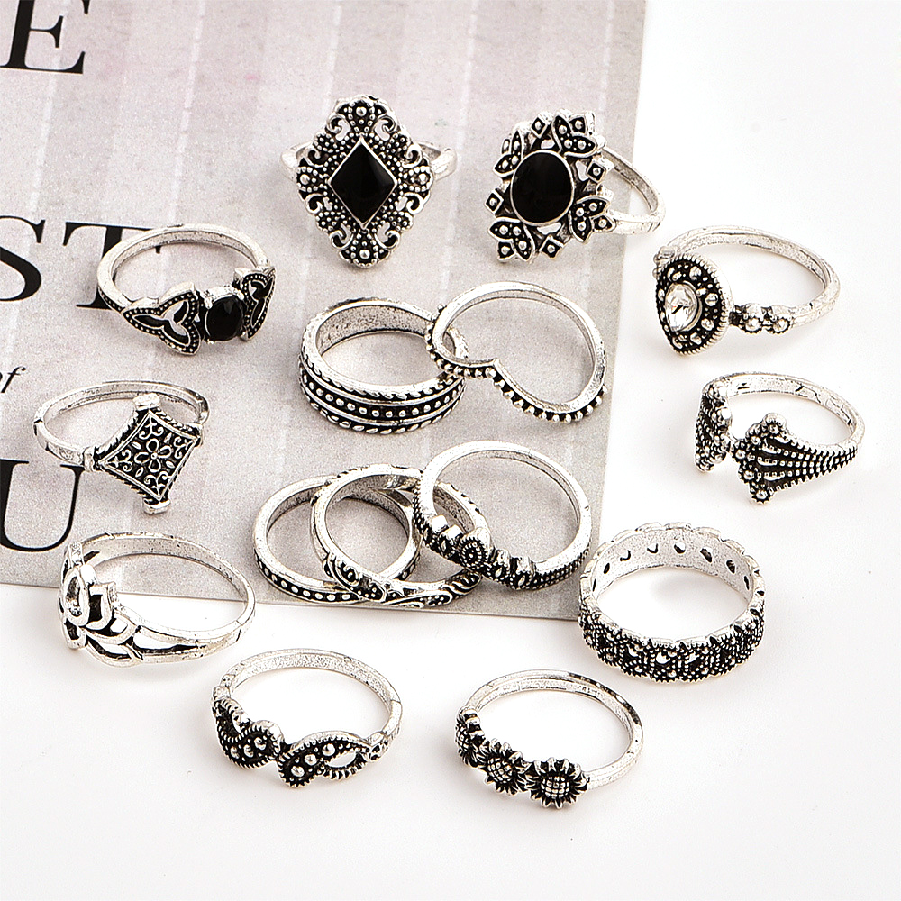 15 Pcs/set Bohemian Retro Crystal