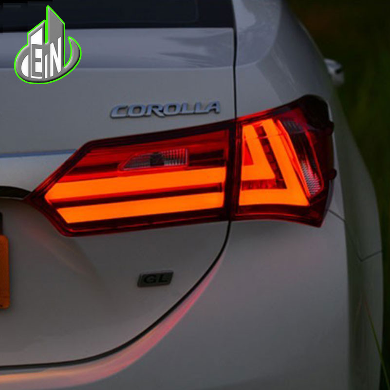 EN Car Styling Tail Lamp For Toyota Corolla Tail Lights 2013-15 Altis LED Tail Light GLK Design Rear Lamp DRL+Brake+Park+Signal en car styling tail lamp for corolla tail lights 2011 2013 altis led tail light rear lamp led drl brake park signal stop lamp