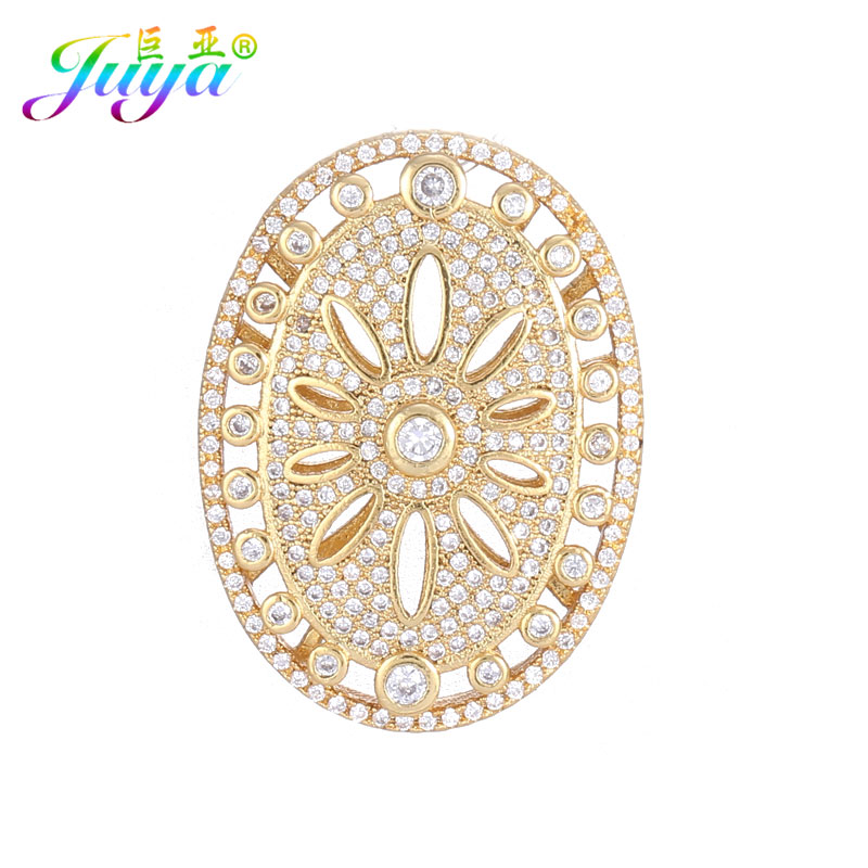 Oval Shape Handmade Floating Jewelry Findings Flower Connector Pendant For Women Natural Stones Pearls Decoration Jewelry Making