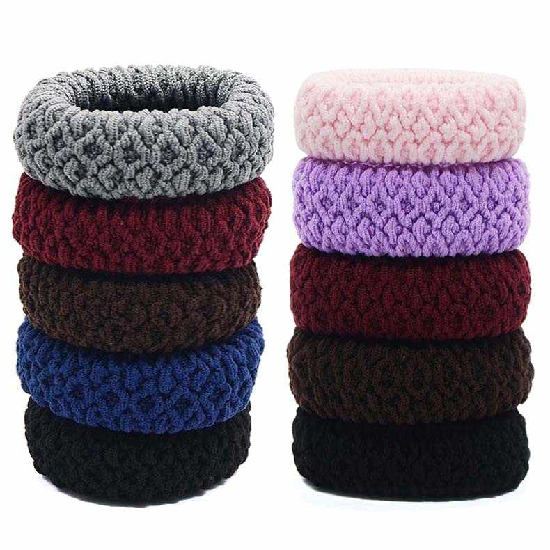 4PCS Hairdressing Tools Black Rubber Band Hair Ties/Rings/Ropes Gum Springs Ponytail Holders Hair Accessories Elastic Hair Band