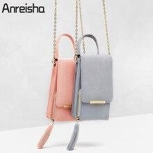 Anreisha для женщин кошелек высокое качество кожа держатель для карт женский плечо деньги телефон кошельки Мода цепи небольшой сумки