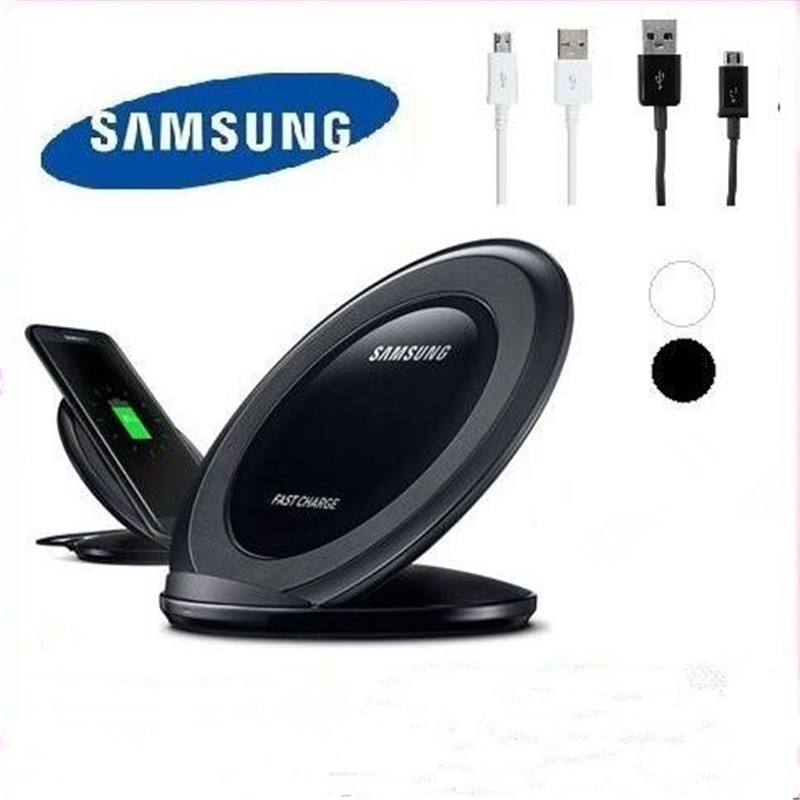 Original samsung qi Wireless Charging Fast Charger Pad Stand for Samsung Galaxy S8 S7 S6 Edge EP-NG930 +Free fast data wire