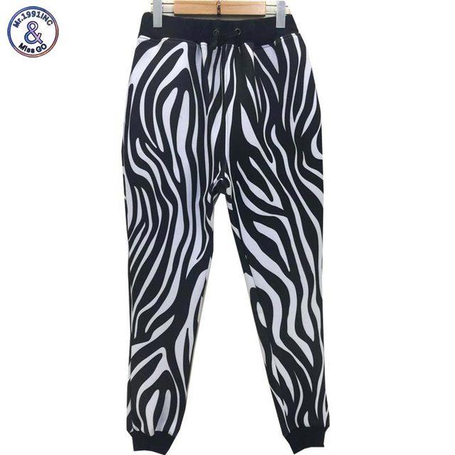 Mr.1991INC Rayas de la Cebra Mujeres/hombres 3d pantalones emoji joggers pantalón largo ocasional pantalones harén pantalones de impresión Monroe P43