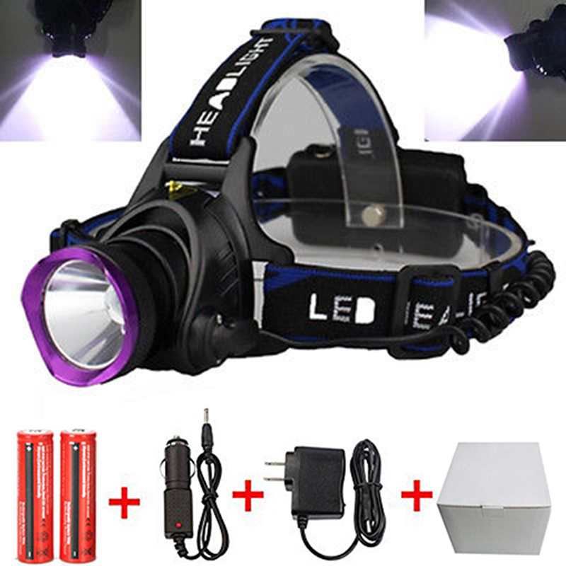 RU USA Head Light Lamp Cree XM L T6 Led 2300LM Rechargeable Headlamps Headlights Lamp Lights