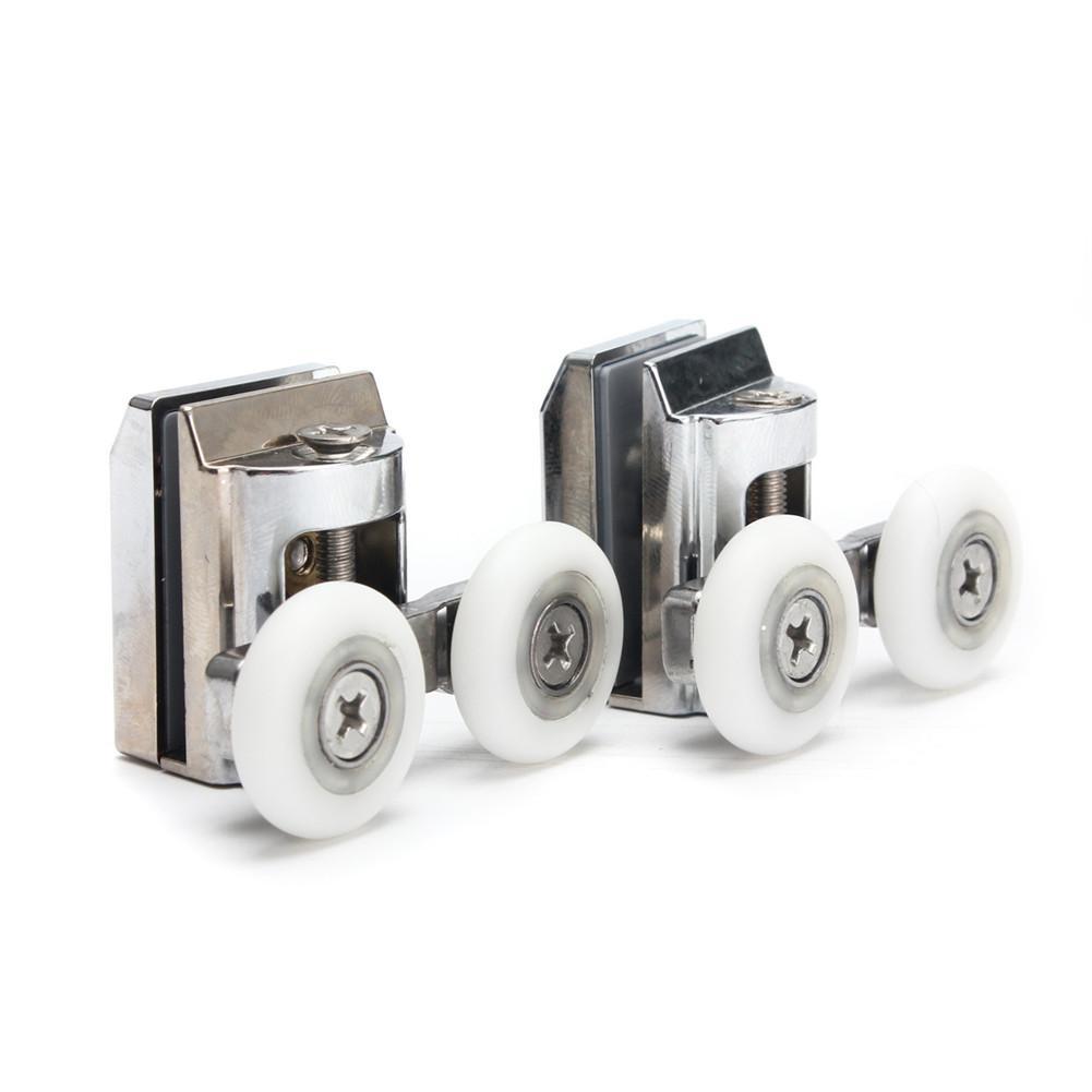 2PCS/Pack 23mm 304 Stainless Steel Bathroom Door Wheels Shower Door Top Rollers Sliding Wheels For Sliding Shower Doors J3 абажур а16201 ткань пленка пвх е14х 40вт паутинка