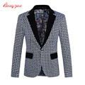 Hombres Blazer Suit traje Homme marca de moda informal de negocios chaqueta a cuadros chaqueta Male Plus Size M-5XL traje para boda chaqueta F2105