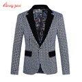 Homens traje Blazer terno Homme marca casuais Plaid Fashion Business Blazer casaco masculino Plus Size M-5XL do terno de casamento jaqueta F2105