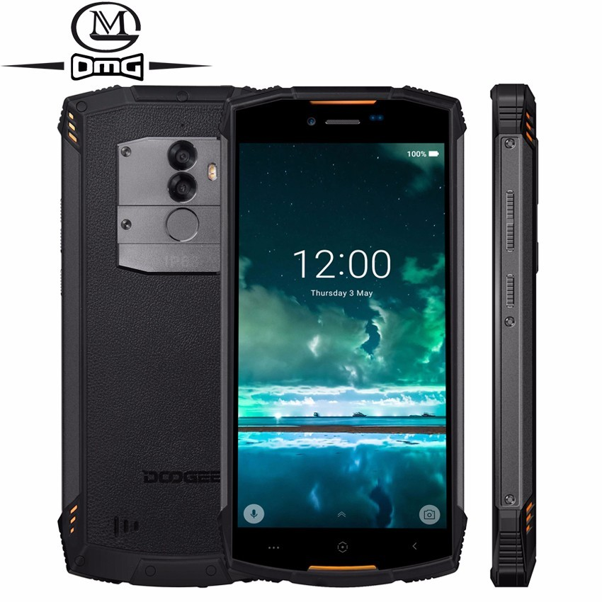 DOOGEE S55 rugged shockproof mobile phone android 8.0 5500mAh 4GB RAM <font><b>64GB</b></font> ROM MTK6750T Octa Core 4G fast charging <font><b>smartphone</b></font> image