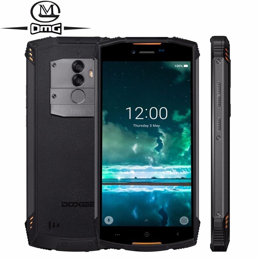 Doogee s55 áspero à prova de choque do telefone móvel android 8.0 5500 mah 4 gb ram 64 gb rom mtk6750t octa núcleo 4g carregamento rápido smartphone