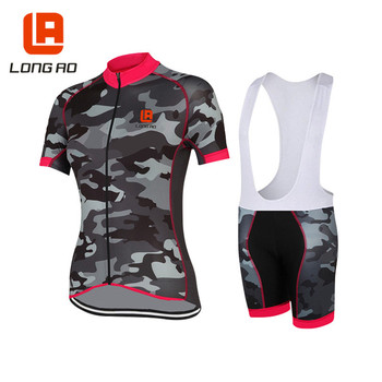 2018 Summer Camouflage Women Cycling Jersey Cycle Short Sleeve Shirt Apparel MTB Bike Sportswear Bicycle Jersey Ciclismo 3xl
