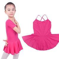New Kids Short Sleeved Ballet Clothes Children Ballerina Dresses Girls Gymnastics Leotard Dancewear