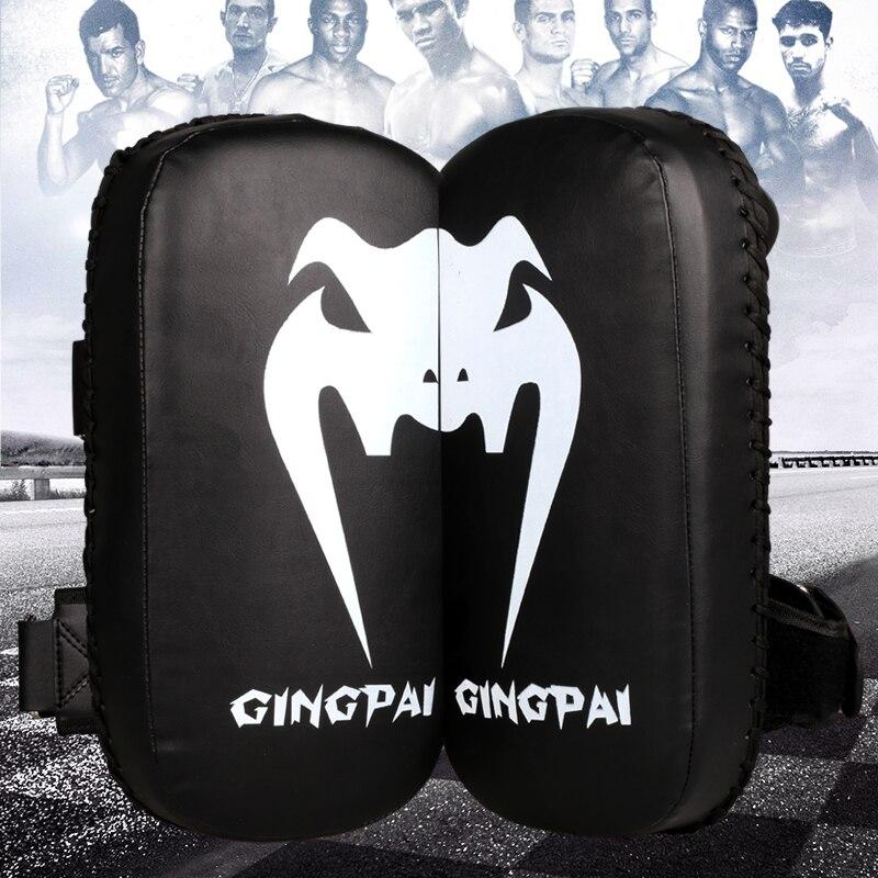 2017new MMA Muay Thai TKD Punching Mitts Pads PU Artificial Leather Taekwondo Kick Boxing Foot Iran Target Grappling Hand Target