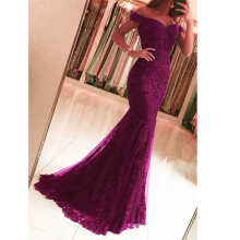 Off the Shoulder Beaded Lace Prom Long Elegant Dresses vestido formatura Red Mermaid Evening Dress