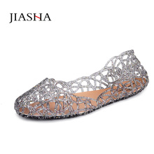 Fashion flat sandals shoes woman jelly shoes