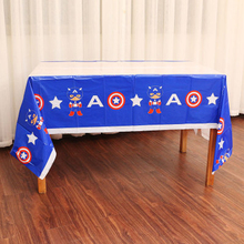 Captain America Theme Happy Baby Shower Decorate Plastic Table Cover Kids Favors Maps Birthday Events Party Tablecloth 1PCS/PACK