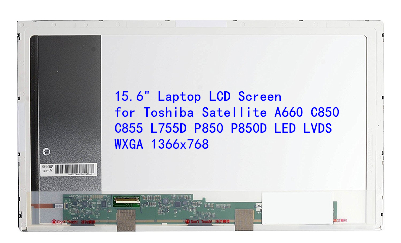 15.6 Laptop LCD Screen for Toshiba Satellite A660 C850 C855 L755D P850 P850D LED LVDS WXGA 1366x768 lcd screen 14 1 inches display for toshiba satellite m100 m110 m200 m300 wxga ccfl new