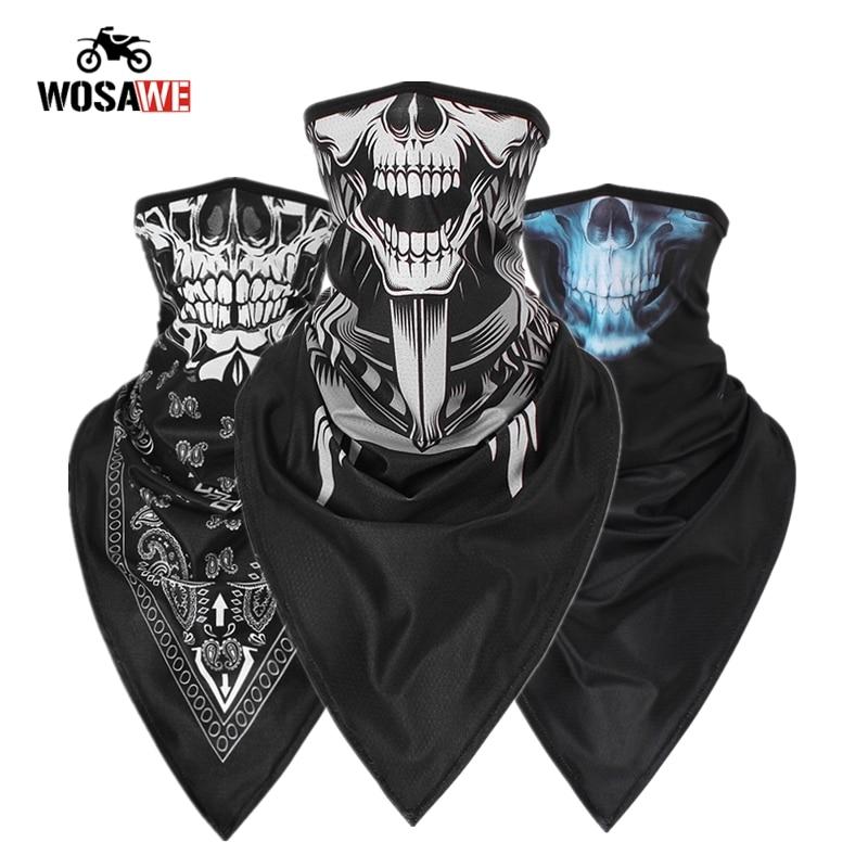 Motorcycle Face Mask Cycling Mask Balaclava Windproof Neck Scarf Ride Face Shield Mascaras Bike Face Mask Moto Bandana Men Women