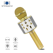 Spain Stock WSTER WS-858 Wireless Bluetooth Karaoke Handheld Microphone Speaker Mini Home Phone Machine Fast Delivery