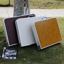 SUFEILE Открытый складной стол чемодан портативный стол кемпинг стол из Алюминиевого сплава складной стол Для Пикника стол 90*60*70 см 17SAND5