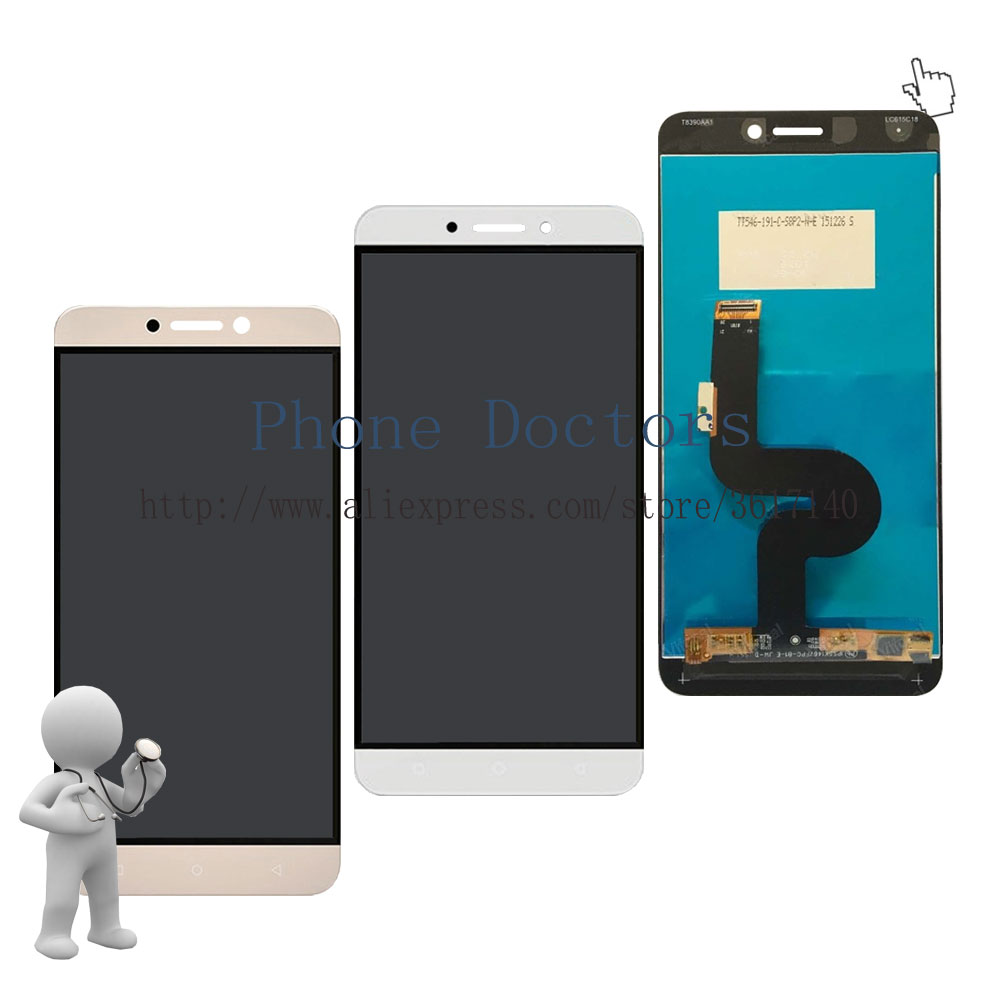 5.5'' Full LCD DIsplay + Touch Screen Digitizer Assembly For LeTV Le 1S X500 X501 X502 ; White / Gold ; New ; 100% Tested