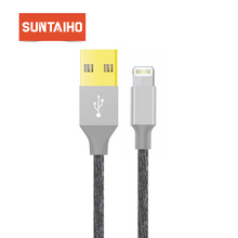 Suntaiho USB Cable For Iphone 8 Gold-plated USB Cable Fast Charger Data Cable For iPhone X 7 6 5s Mobile Phone Cables