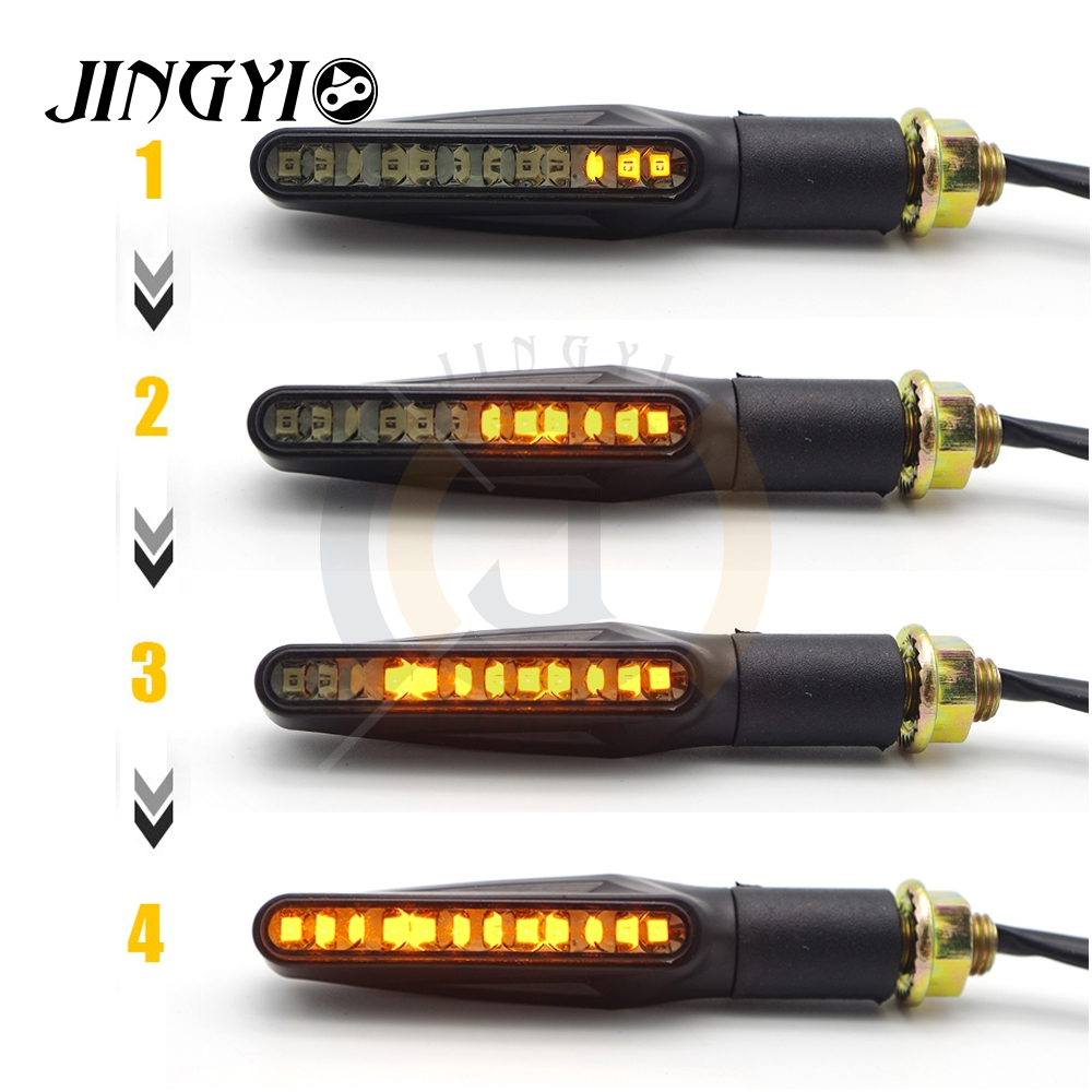 1pcs Flowing Motorcycle LED Turn Signal Light Direction Indicator For YAMAHA Aerox 155 Jog Yzf R6 R3 Xt 600 Xj6 R25 Yamaha
