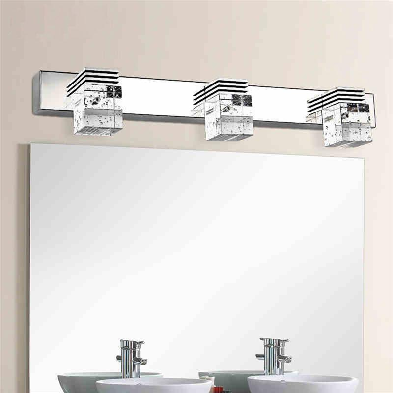 K9 crystal bathroom light fixtures led 6w square bath vanity wall 3 light crystal bathroom light fixtures led 9w waterproof bath wall sconces light aluminum wall aloadofball Image collections