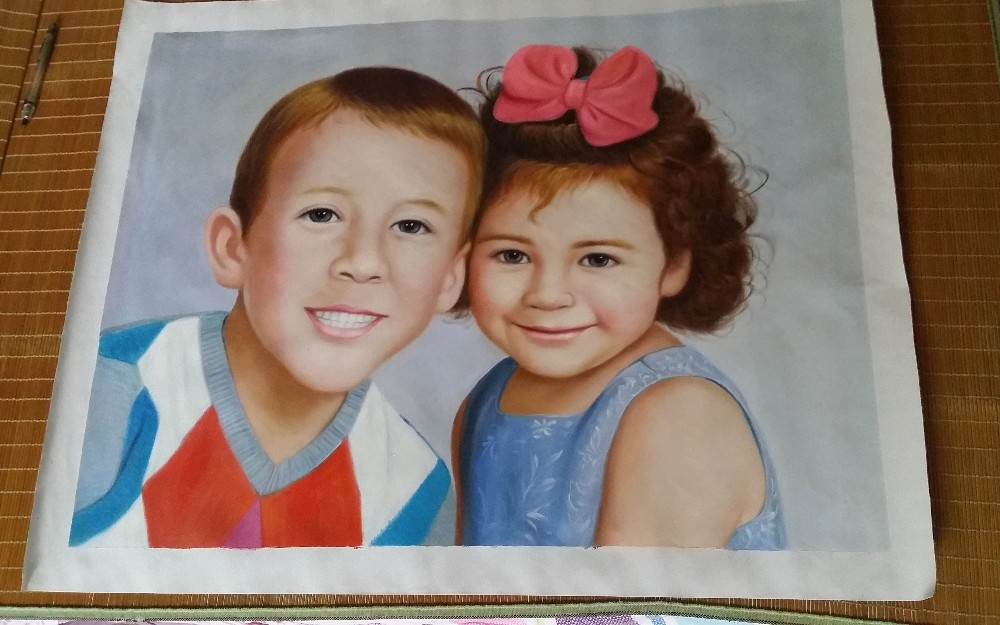 serviço personalizar pintura a óleo pintura retrato