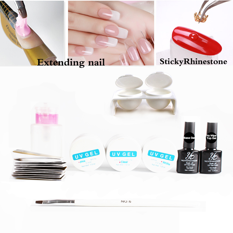 Builder UV Gel Set Acrylic Professional Varnish Semi Permanent Soak Off Nail Extension Lacquer Extending Poly Form Base Top Pen 12pcs lot green series uv gel nail polish led lamp gel lacquer gel polish vernis semi permanent gel varnish nail primer base top