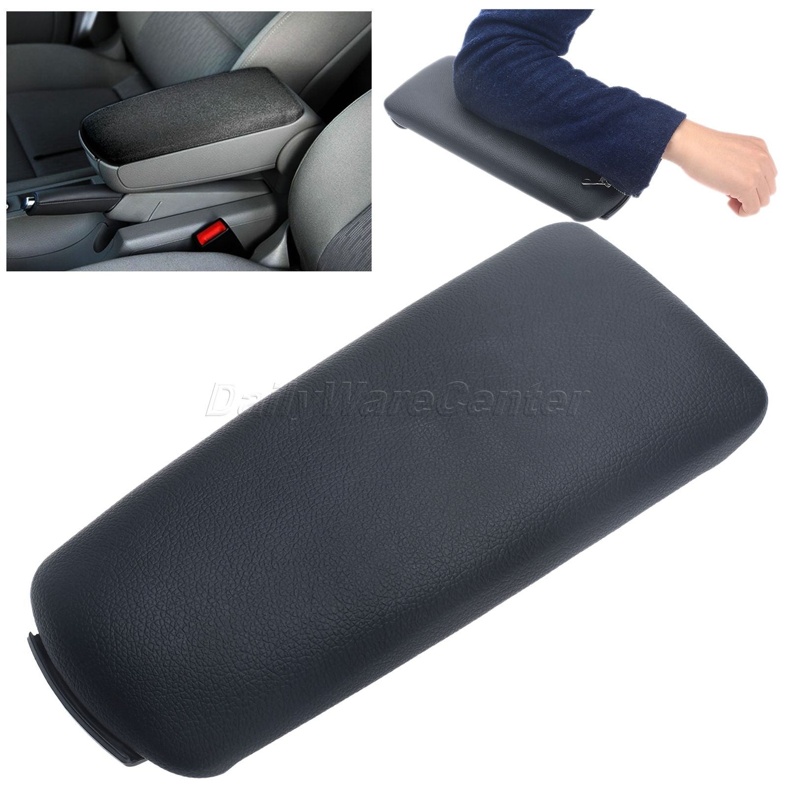 Black PU Leather Armrests Console Lid Cover Arm Rest Center Car-Covers Car Styling For Audi A4(B6 B7) Quattro Wagon Convertible leather center console armrest cover lid fit for audi a4 b6 b7 2002 2003 2004 2005 2006 2007
