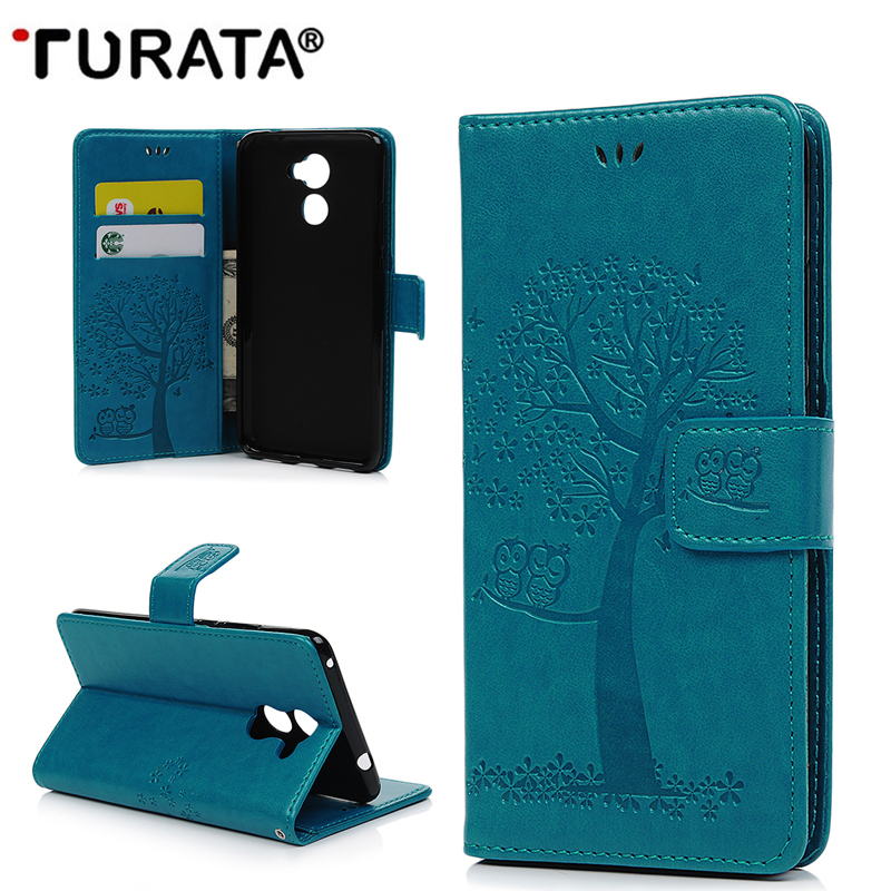 Embossing Owl Pu Leather Case Fundas For Huawei Y7 prime 2017/ Y5 Y6 2017 Wallet Card Holder Cover Coque Capa With Card Slots