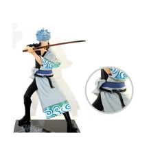 купить Lensple 17cm GINTAMA Sakata Gintoki Silver Soul DX Vol.1 Action Figure PVC Toy Collectible Model по цене 788.74 рублей