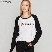 Лучшие друзья, женская футболка, bff, хлопок, Femme vogue camisetas, длинный рукав, ТВ шоу, harajuku, Рождественская одежда, топы