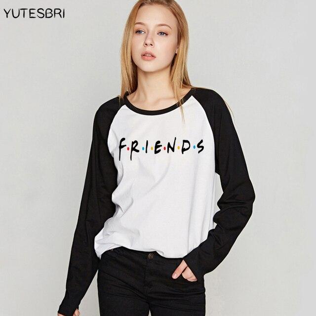 b30a9e07b28 2017 Best Friends T-shirt Women tshirts bff Cotton Femme vogue camisetas  long sleeve Tv Show harajuku christmas clothing tops