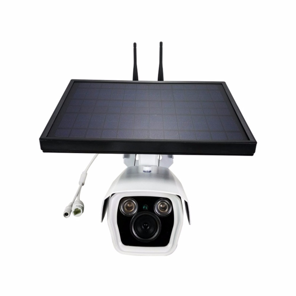 все цены на P9S-2 1080P HD 4G&Wifi IP Camera Infrared Night Vision Surveillance Web Cam Solar Household Alarm System for Apple for Android онлайн