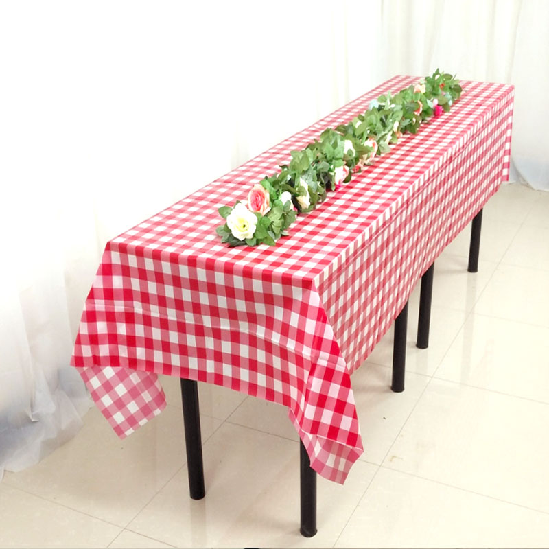BALLE Plastic Party Tablecloth Disposable Table Cover Rectangular Outdoor Picnic BBQ  Weddings